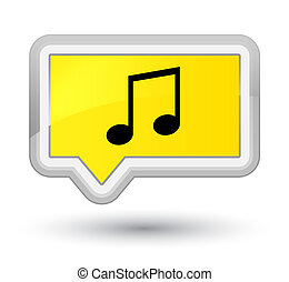 Music icon prime yellow banner button