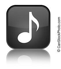 Music icon special black square button