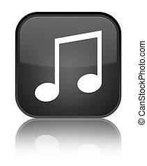 Music icon special black square button