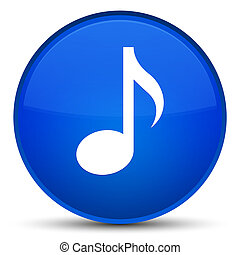 Music icon special blue round button