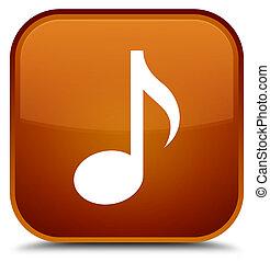 Music icon special brown square button