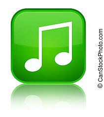 Music icon special green square button