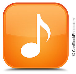 Music icon special orange square button
