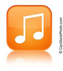 Music icon special orange square button