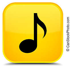 Music icon special yellow square button
