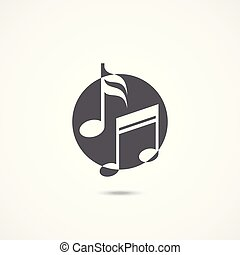 Music icon vector on white background