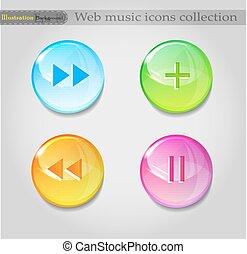Music icons background