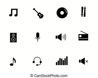 music icons isolated on white background. vector illustration