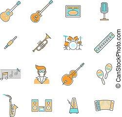 Music Icons Line Set