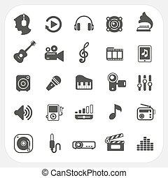 Music icons set on white background, EPS10, Don't use ...