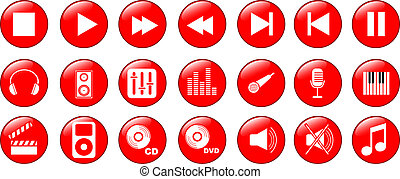 music icons set - Music icons set of 21 objects