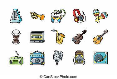 Music icons set,eps10