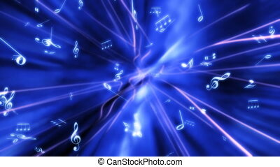 Music in Blue Abstract Loop