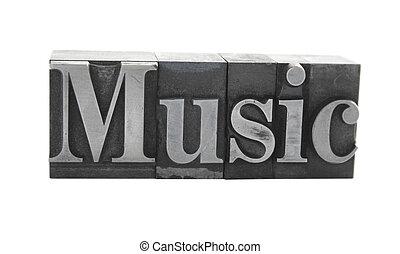music in metal type