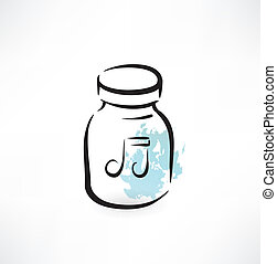 music in the glass jar grunge icon