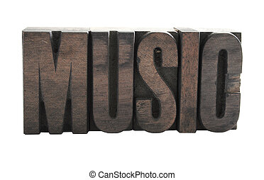 music in wood type