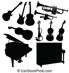 music instrument black