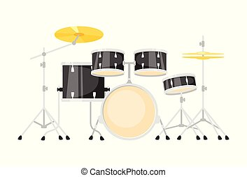 Music instrument - drum kit, design for any purposes. Vector...