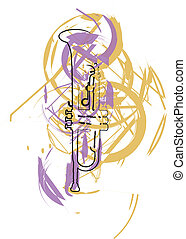 Music Instrument. Vector illustration