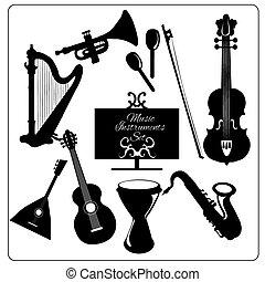 Music instruments black