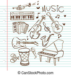 Music Instruments Doodle