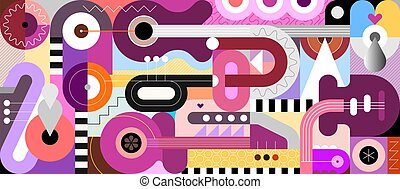 Music Instruments vector illustration