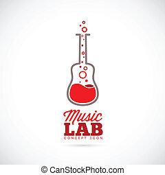 Music laboratory vector concept icon