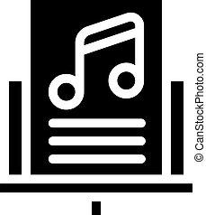 music lesson glyph icon vector black illustration
