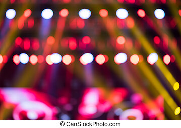 Music live show blurred background