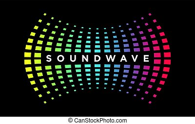 Music Logo concept Sound Wave, Audio Technology