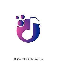 Music logo creative vector icon
