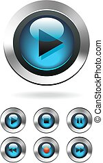 Music Media Computer Player Buttons