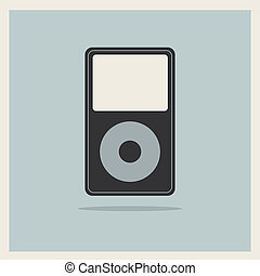 Music Media MP3 Player on the Retro Vintage Background ...