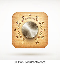 music metal volume knob app icon on rounded corner square