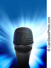 Music Microphone Glowing