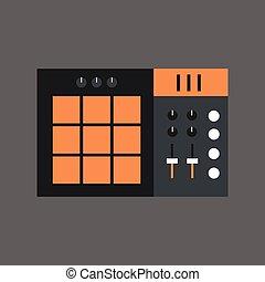 Music Mixer Icon Sound Studio Equalizer System Concept