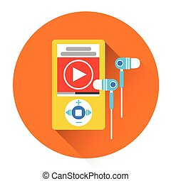 Music MP3 Player With Headphones Icon