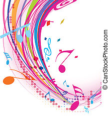 abstract music notes design for music background use, vector illustration