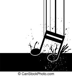 music note fall down