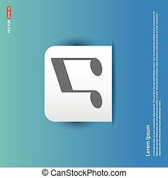 Music note icon - Blue Sticker button