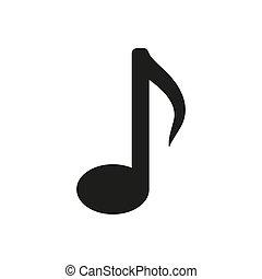 Music note icon icon on white background.