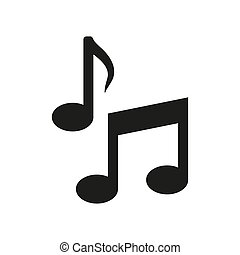 Music note icon icon on white background.