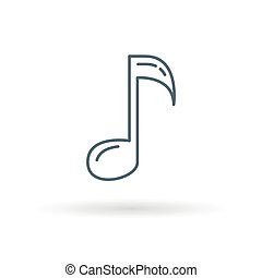 Music note sign  maroon icon on transparent background