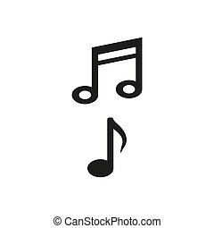 Music note icon on white background.