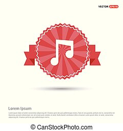 Music note icon - Red Ribbon banner