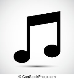 Music Note Icon Symbol Sign Isolate on White Background