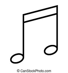 Music note icon. Vector illustration isolated on white background.