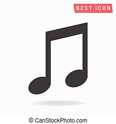 Music note Icon Vector.