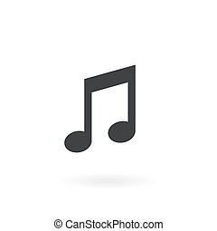 Music note Icon Vector on the background , vector