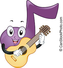 Music Note Mascot - Mascot Illustration Featuring a Music...